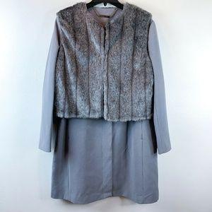 Iman Luxe City Coat Couture Plus Size Platinum